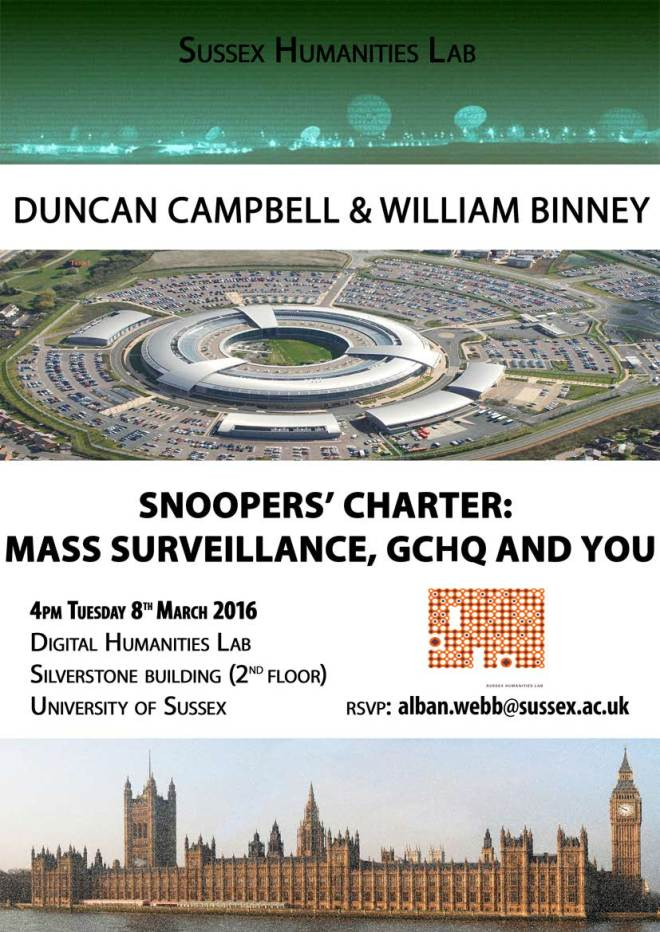Invitation - Duncan Campbell & William Binney Masterclass
