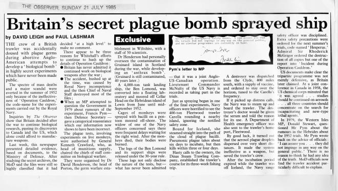 Britain's secret plague bomb