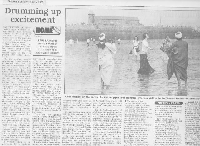 Womad review 1989
