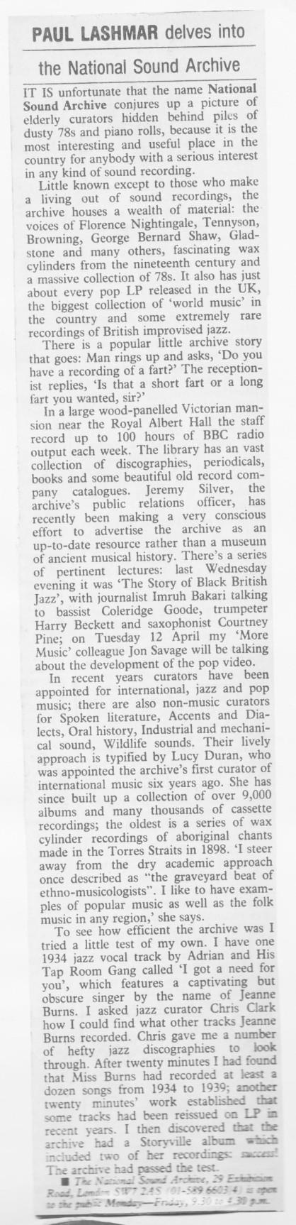 National Sound Archive 4