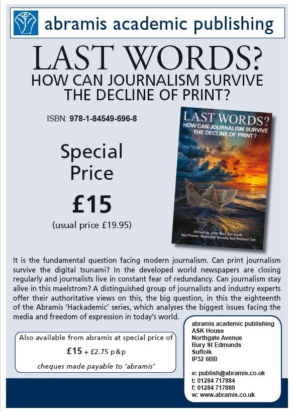 PL Has Chapter In New Book Last Words Here S The Flyer