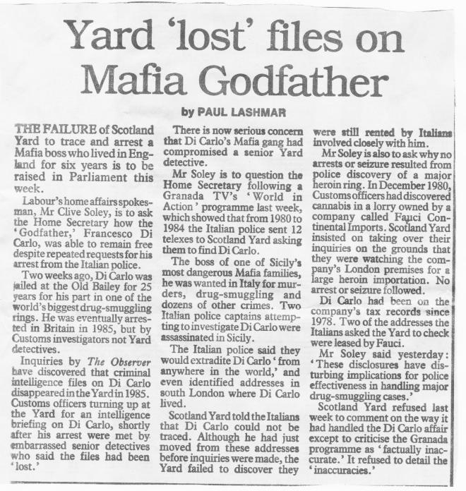 Mafia files 1987 PL